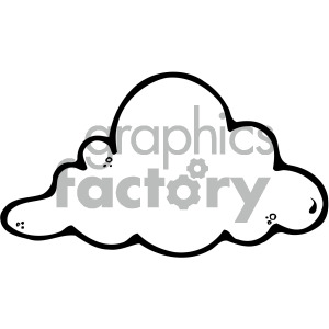 clouds black white clipart. Royalty-free image # 405220