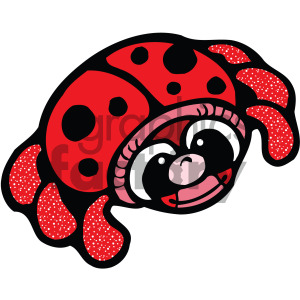 cartoon ladybug vector clipart clipart. Commercial use image # 405241