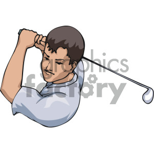 Man golfing clipart. Royalty-free image # 169211