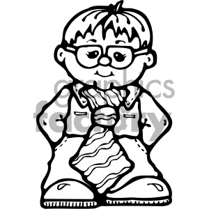 cartoon people human character cute boy child children black+white