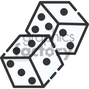 dice vector royalty free art clipart. Royalty-free icon # 405398