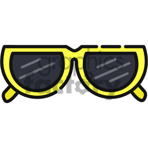 sunglasses vector art clipart. Royalty-free icon # 405407