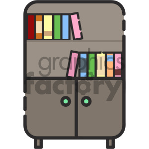 bookshelf vector royalty free icon art clipart. Royalty-free image # 405413