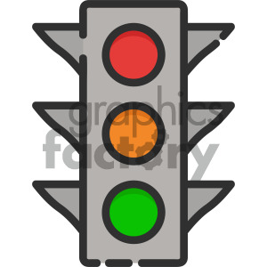 traffic light vector royalty free icon art clipart. Royalty-free image # 405422