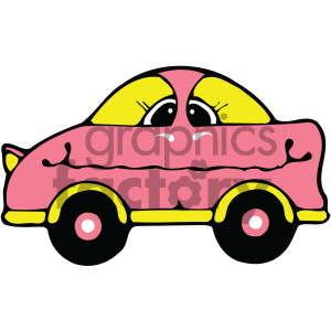 cartoon pink car clipart. Commercial use image # 405462