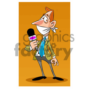 cartoon character mascot funny journalist quite hush silence banned censored news