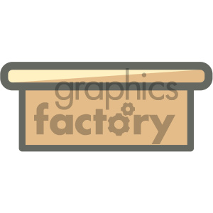 executive desk furniture icon clipart. Royalty-free image # 405668
