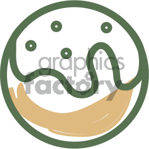 doughnut food vector flat icon design clipart. Commercial use image # 405728