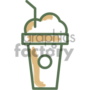 frappuccino food vector flat icon design clipart. Royalty-free image # 405732
