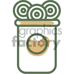 candy jar food vector flat icon design