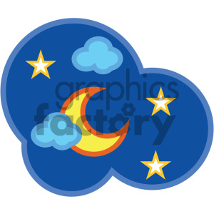 nighttime sky nature icon clipart. Royalty-free image # 405742