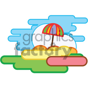 sunny day nature icon clipart. Royalty-free icon # 405747