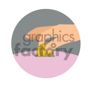 saving money circle background vector flat icon clipart. Royalty-free image # 405771