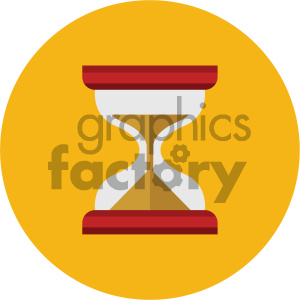 hourglass circle background vector flat icon clipart. Commercial use icon # 405836