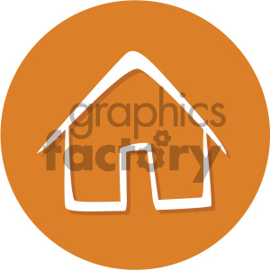 home circle background vector flat icon clipart. Royalty-free image # 405856