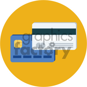 credit cards circle background vector flat icon clipart. Royalty-free image # 405864