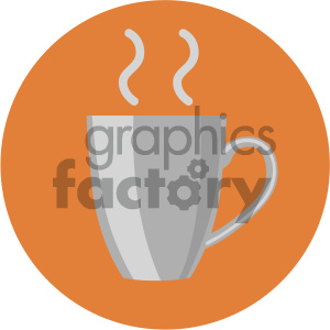coffee cup circle background vector flat icon clipart. Royalty-free icon # 405881