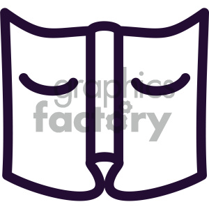 reading book vector art clipart. Royalty-free image # 405909