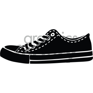 black and white sneaker vector art clipart. Royalty-free image # 405911