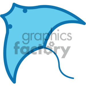 stingray ocean icon clipart. Royalty-free image # 405919