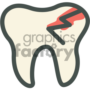 cracked tooth dental vector flat icon designs clipart. Royalty-free image # 405949