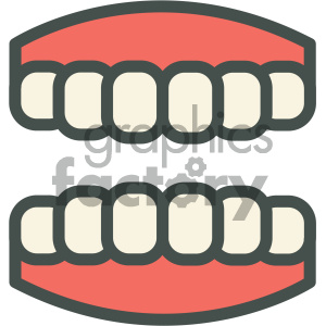 mouth dental vector flat icon designs clipart. Royalty-free icon # 405972