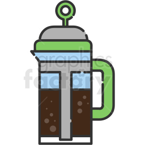 coffee plunger vector icon art clipart. Royalty-free image # 406116