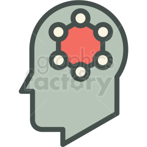 nano brain technology icon clipart. Royalty-free image # 406170