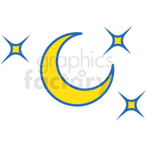 space icons moon stars