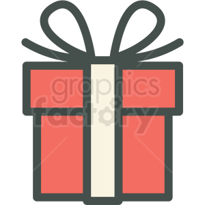 gift vector icon clip art clipart. Royalty-free image # 406252