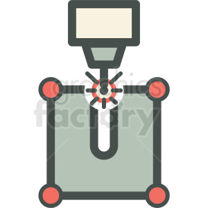 laser cnc engraving manufacturing automation factory icon