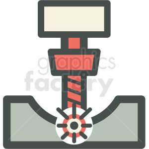 engraver machine manufacturing icon clipart. Commercial use image # 406275