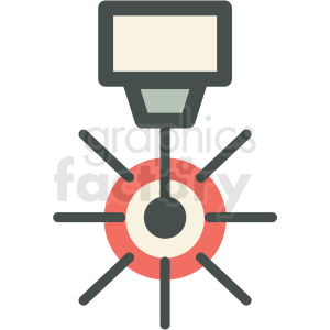laser cutting manufacturing icon clipart. Commercial use image # 406278