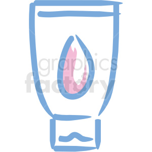 hand lotion cosmetic vector icons clipart. Royalty-free image # 406313