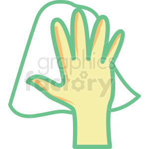 hand cleaning flat vector icon clipart. Royalty-free icon # 406335