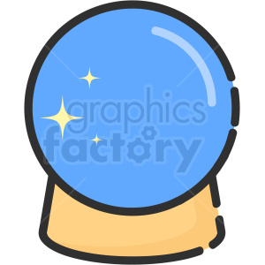 crystal ball vector icon clipart. Royalty-free image # 406362