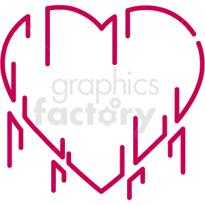love grows organically vector art clipart. Commercial use image # 406364