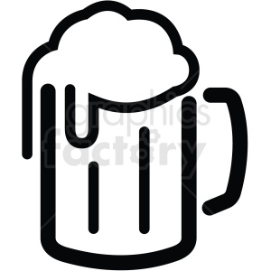 beer mug glass outline black+white rg tattoo
