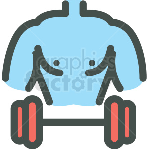 muscle man fitness vector icon clipart. Royalty-free image # 406392