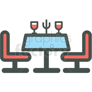 dinner table vector icon clipart. Royalty-free image # 406394