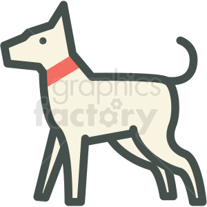 dog vector icon clipart. Royalty-free image # 406396