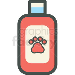 dog shampoo vector icon