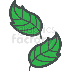 leafs vector icon clipart. Royalty-free icon # 406432