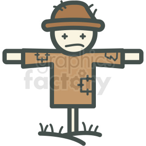 scarecrow vector icon clipart. Commercial use image # 406436