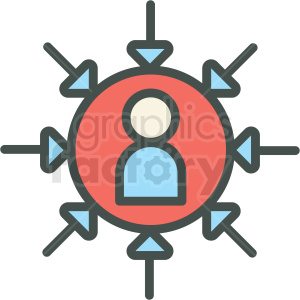 political partisanship vector icon clipart. Royalty-free image # 406472