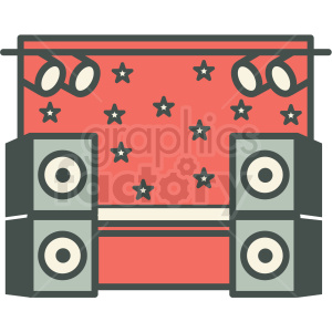 music concert stage vector icon image clipart. Royalty-free icon # 406590