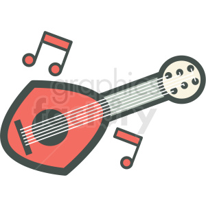 ukulele vector icon image clipart. Royalty-free icon # 406595