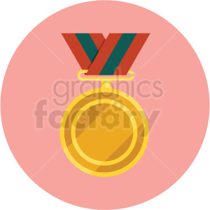 award ribbon vector flat icon clipart with circle background clipart. Commercial use image # 406663