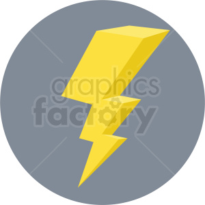 lightning vector flat icon clipart with circle background clipart. Royalty-free icon # 406665