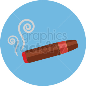 cigar vector flat icon clipart with circle background clipart. Royalty-free image # 406672